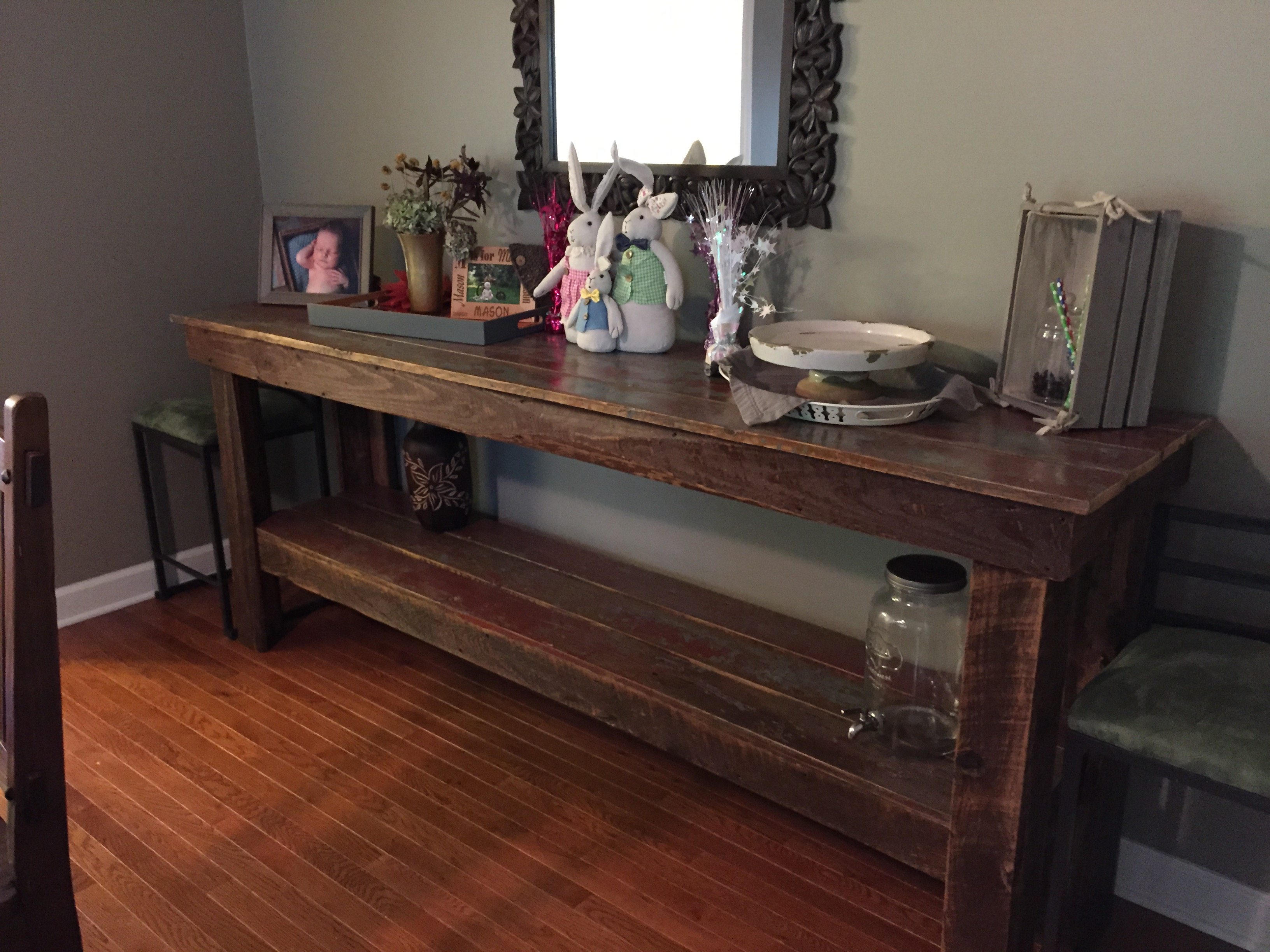 Barn Wood Buffet Table